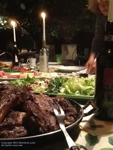 Mixed grill by candlelight at Villa Minghetti