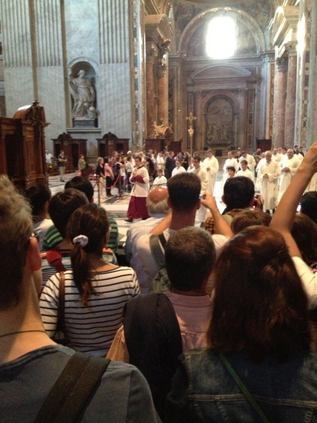 Recessional at St. Peter's Basilica