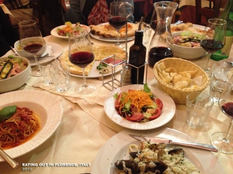 restaurant spread Italy