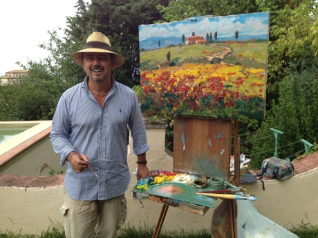 Our painting teacher Agostino Veroni showed us how he paints from start to finish in about two and a half hours. Amazing!