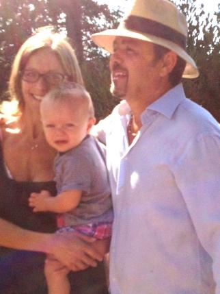 Federica, Agostino, and baby Giulio