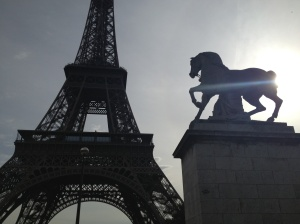 La Tour d'Eiffel and horse