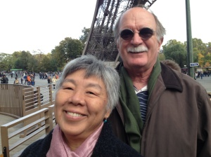 Popo and Papa at La Tour d'Eiffel
