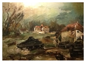 I apologize that I don't know the name of the artist who made this painting of D-Day.
