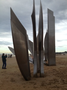 Sculpture at Omaha Beach